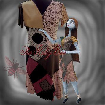 Sally Costume Nightmare Before Christmas Handmade Movie Colors ...