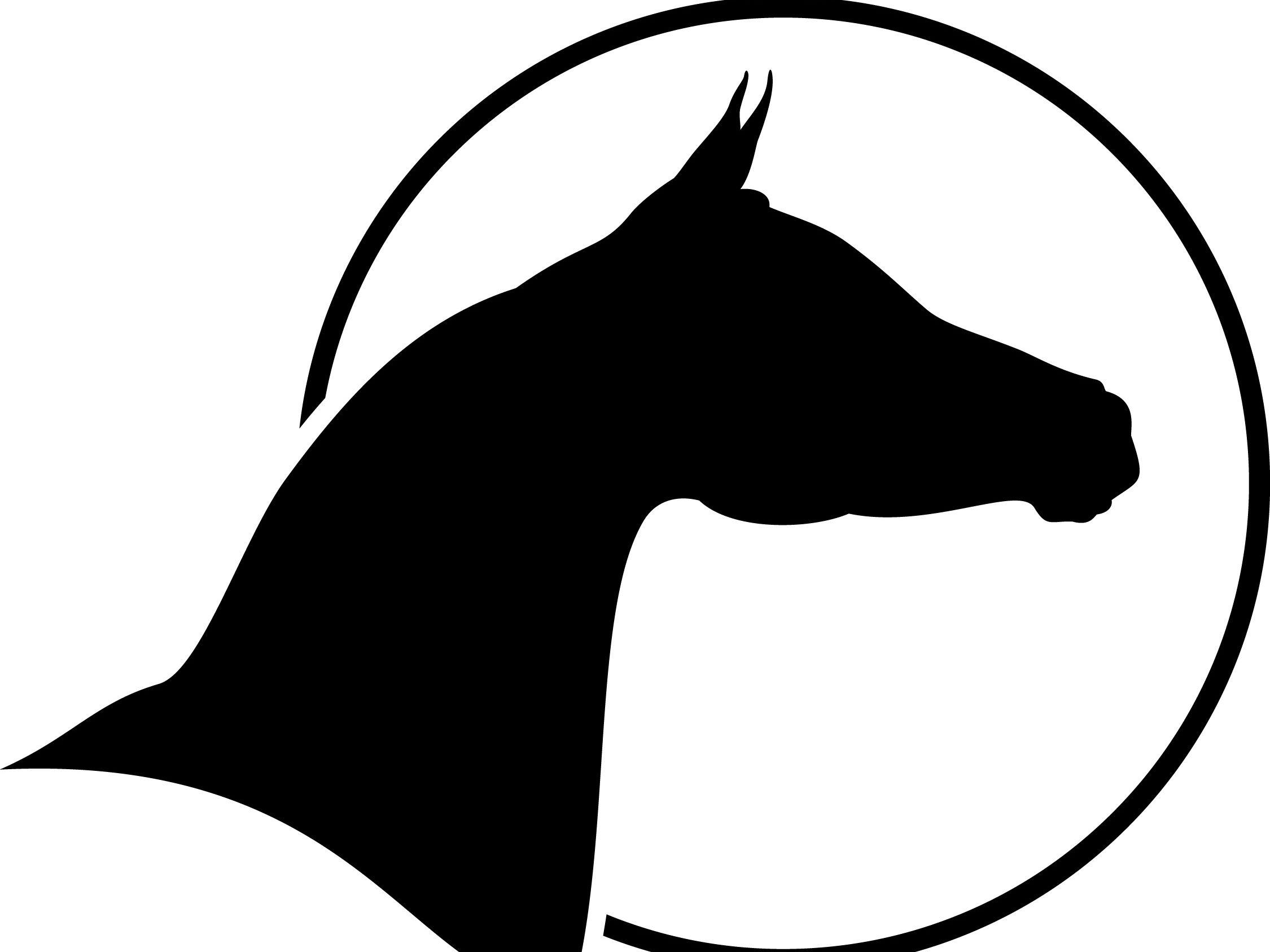 Arabian Horse Head Two Horse Silhouette Arabian Horse Art Horse Head