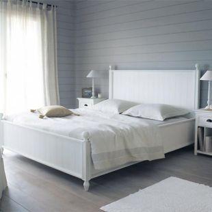 letto bianco 160 x 200 cm in pino newport newport. Black Bedroom Furniture Sets. Home Design Ideas