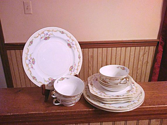 Imperial China by Noritake setting for three Noritake Imperial China twelve dishes set. & Imperial China by Noritake setting for three Noritake Imperial ...