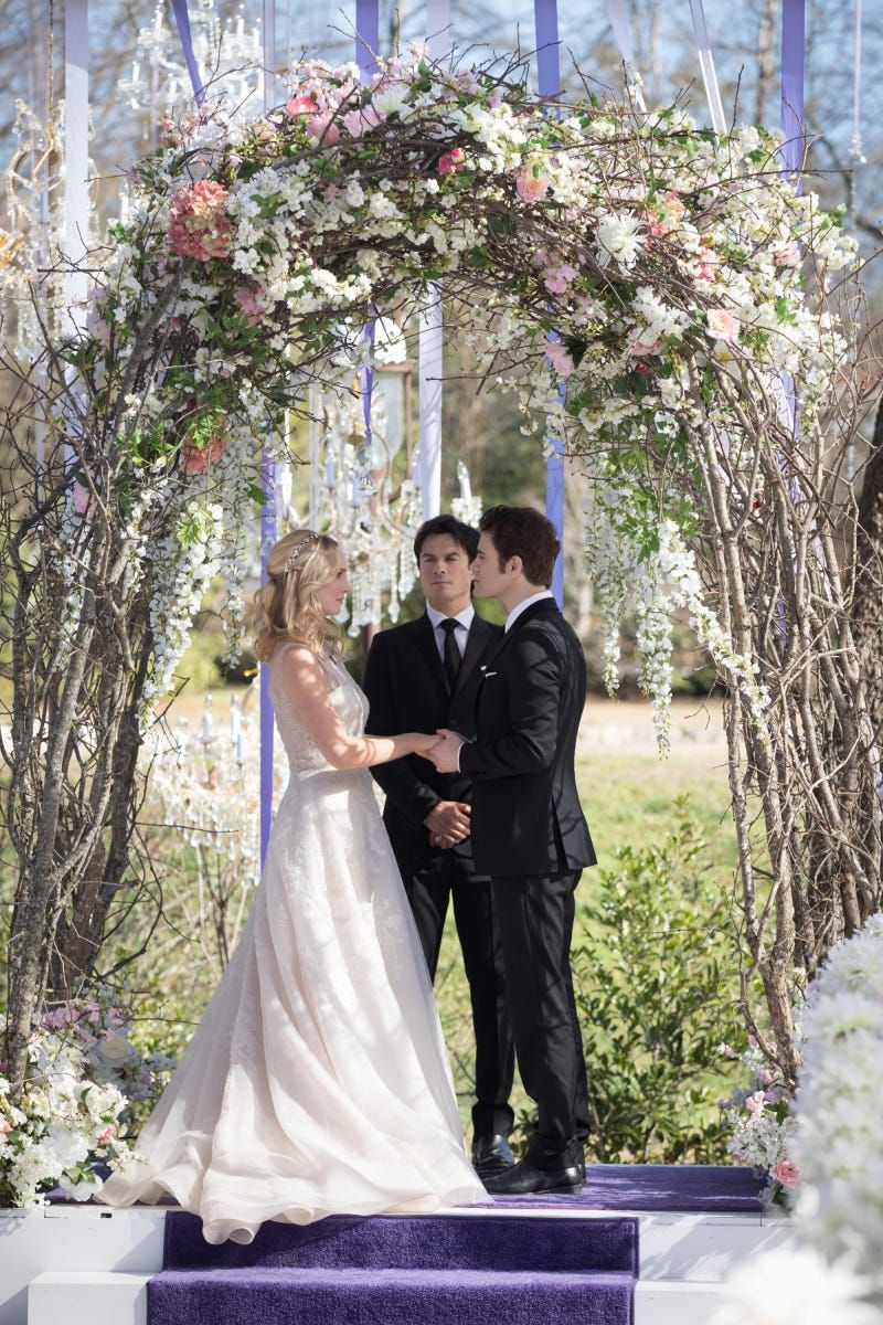We Don't Deserve Stefan & Caroline's Beautiful Vampire Diaries Wedding #refinery29