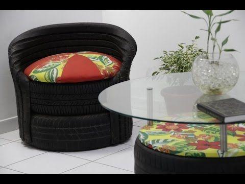 Como fazer poltrona de pneu e corda