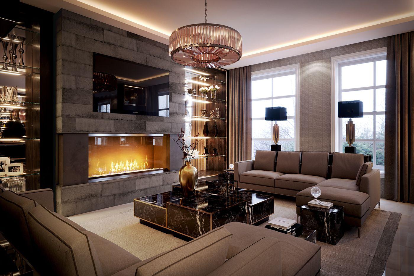 Luxury London Sitting Room CGIs