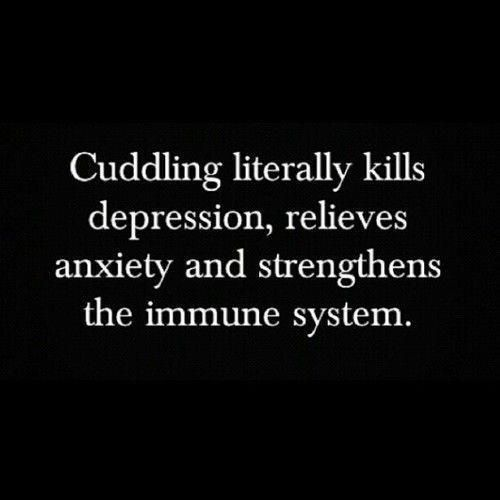 Cuddling literally kills depression, relieves, anxiety and...