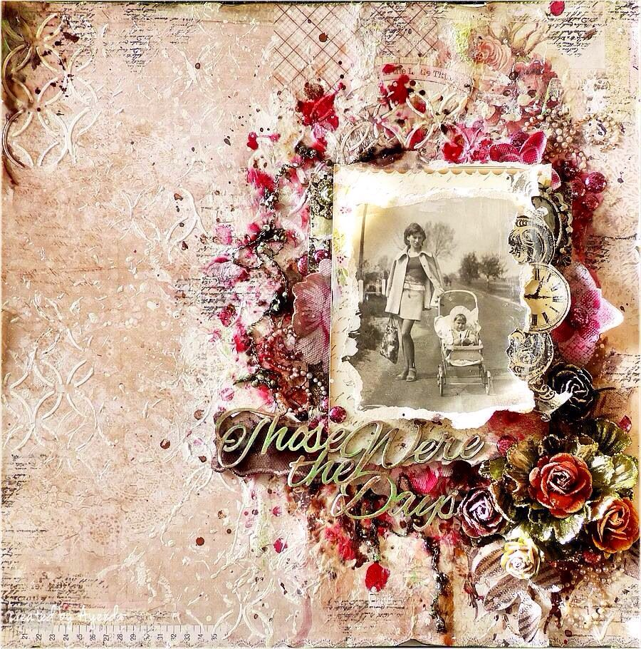 From Prima S Fb Page Scrapbook Layouts Mixed Media border=