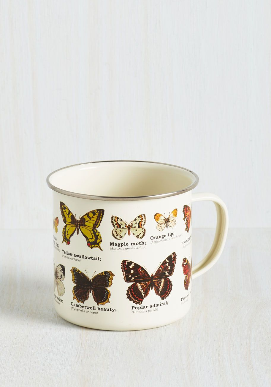 15958d3f5 Coffee Wings Mug. A lovely morning takes flight as soon as your brew hits  the bottom of this metal mug! #white #modcloth