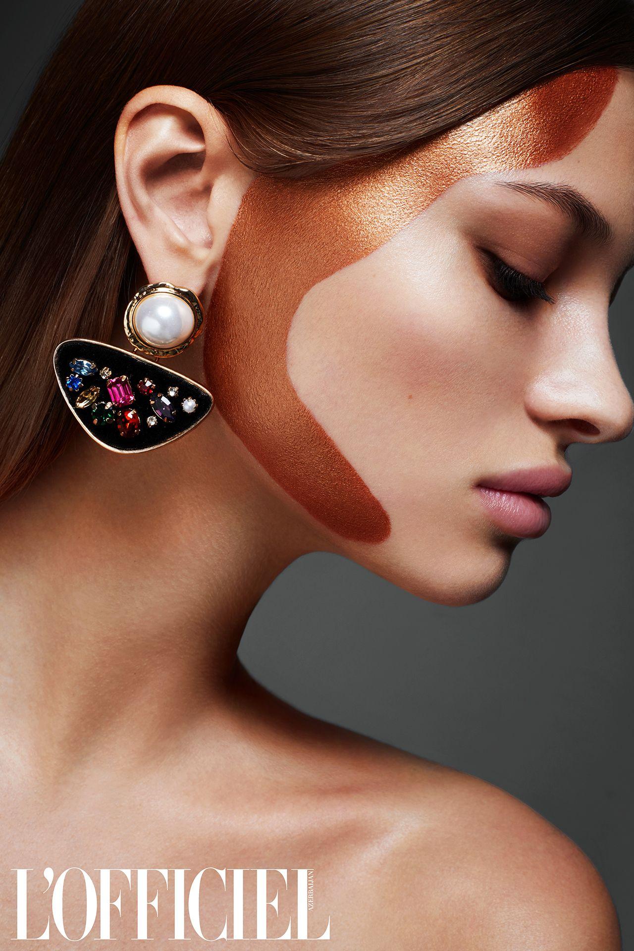 Beauty editorial for L`Officiel AzerbaijanModel is Lera c