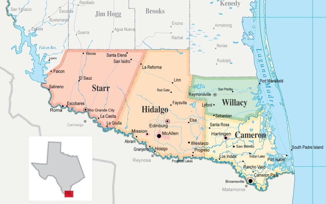 Lower Rio Grande Valley consists of many rural citiestowns Major