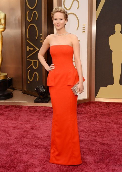 Jennifer Lawrence Red Dior Couture Gown 2014 Oscars Source by libcamaro2012 dress celebrity