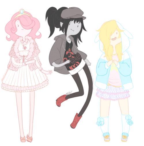 Princess Bubblegum, Marceline And Fiona The Human