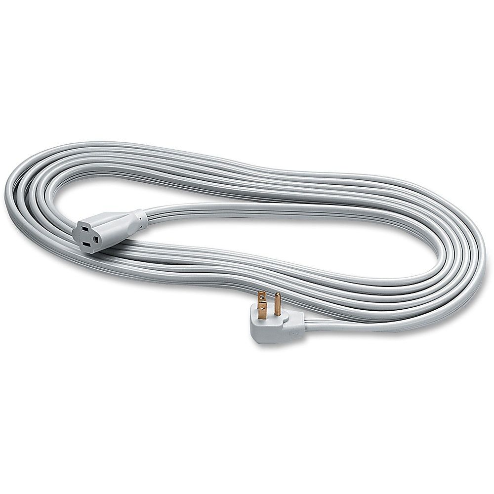 Fellowes Indoor 3 Prong Heavy Duty Extension Cord 15 Gray Extension Cord Computer Accessories Computer Hardware