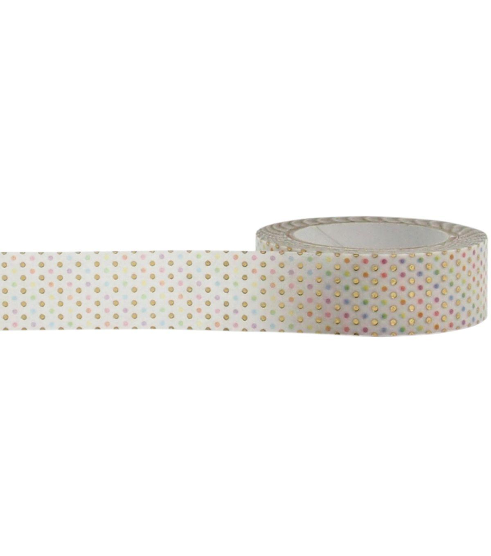 Little B Foil Tape 15mmX10m - Pastel Dots