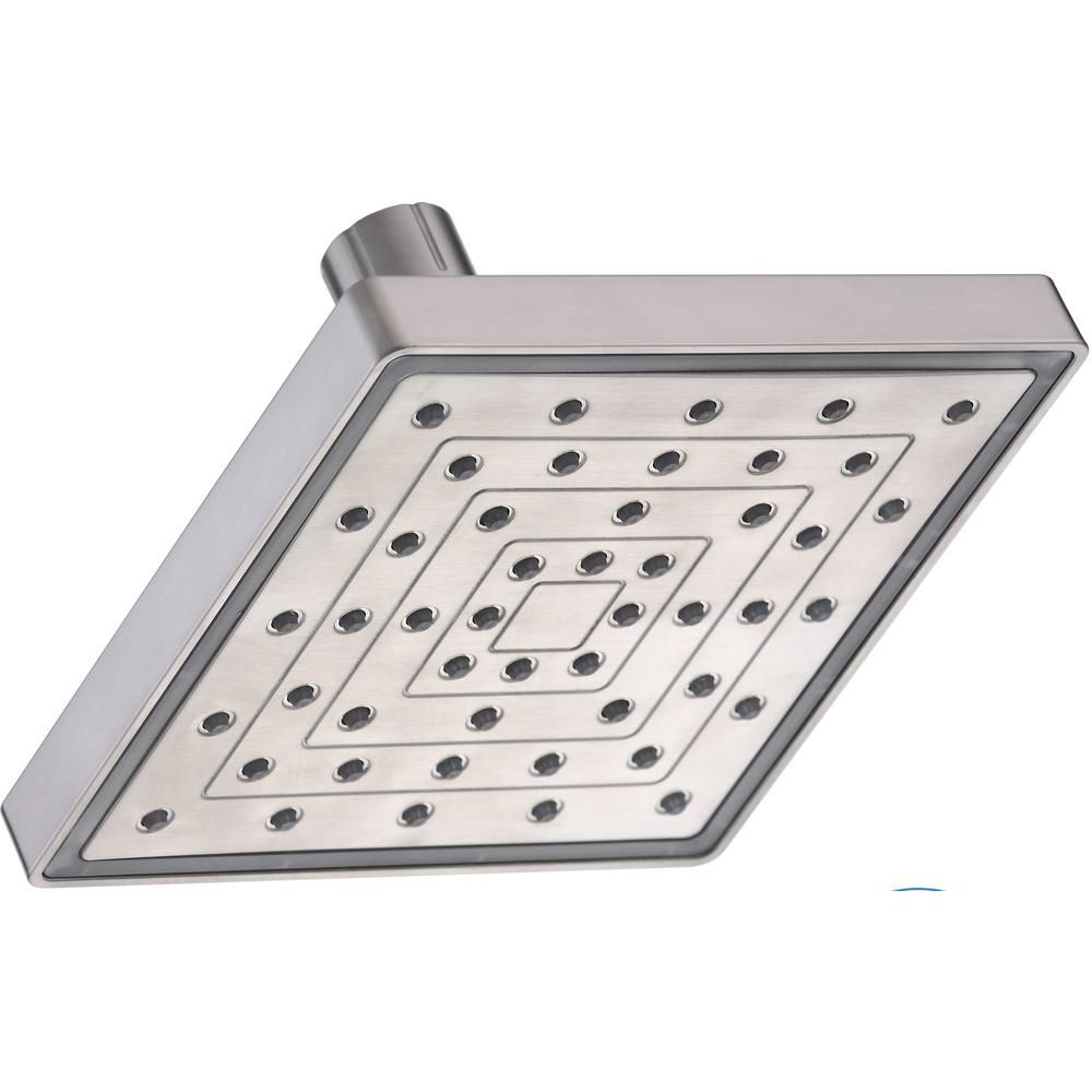 Glacier Bay 1 Spray 6 In Single Wall Mount Water Powered Led