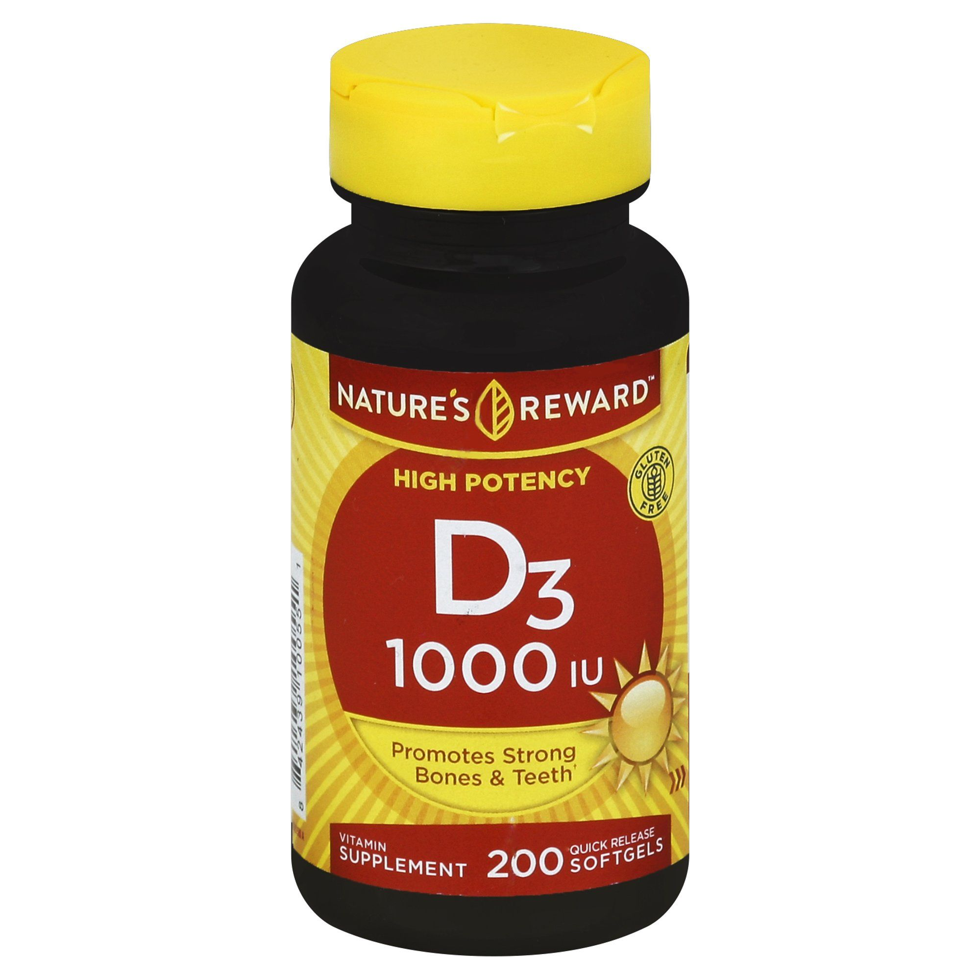 Nature's Reward Vitamin D3 1000 Iu 200 ct Vitamin,