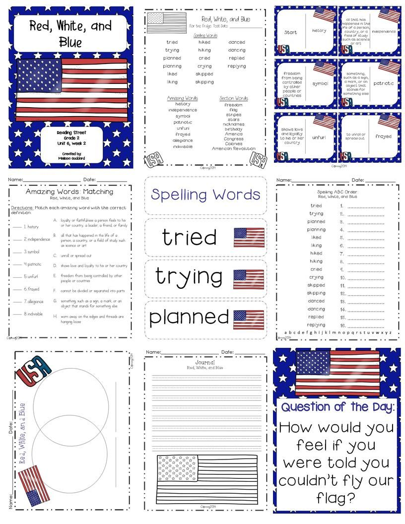 Red, White, and Blue Reading Street Grade 2 http://www.