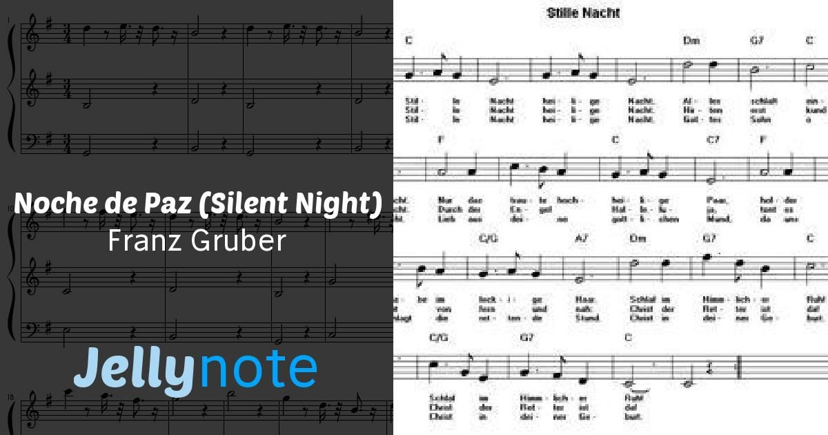 Noche De Paz Silent Night Sheet Music Silent Night Violin