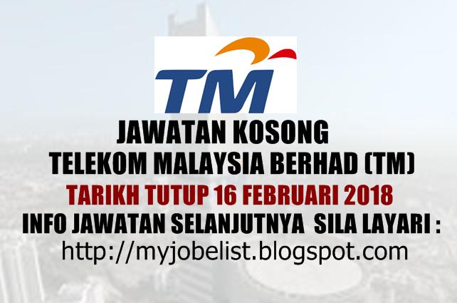 Jawatan Kosong Terkini Di Telekom Malaysia Tm 16 Februari 2018 Jawatan Kosong Terkini Di Telekom Malaysia Tm Febru Home Decor Decals Malaysia Home Decor
