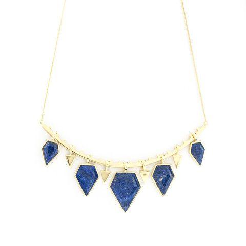 Melanie Auld - Stone Collar Necklace- Lapis