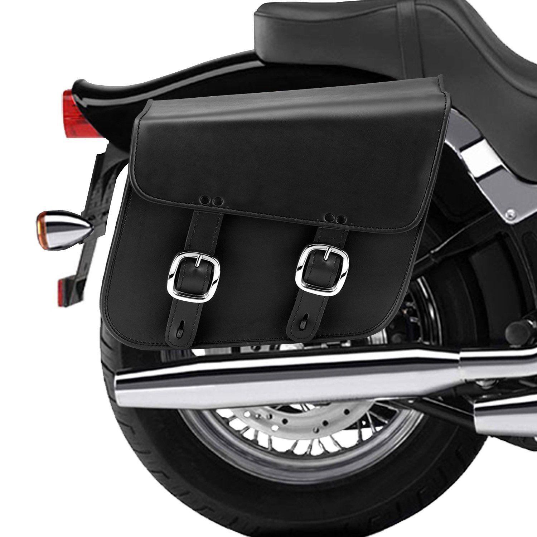 Nomad USA Leather Slanted Large Motorcycle Saddlebags w