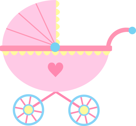 Baby Clipart Girl Cute Pink Baby Carriage Free Clip Art Family