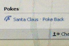 Santa poked me on Facebook!