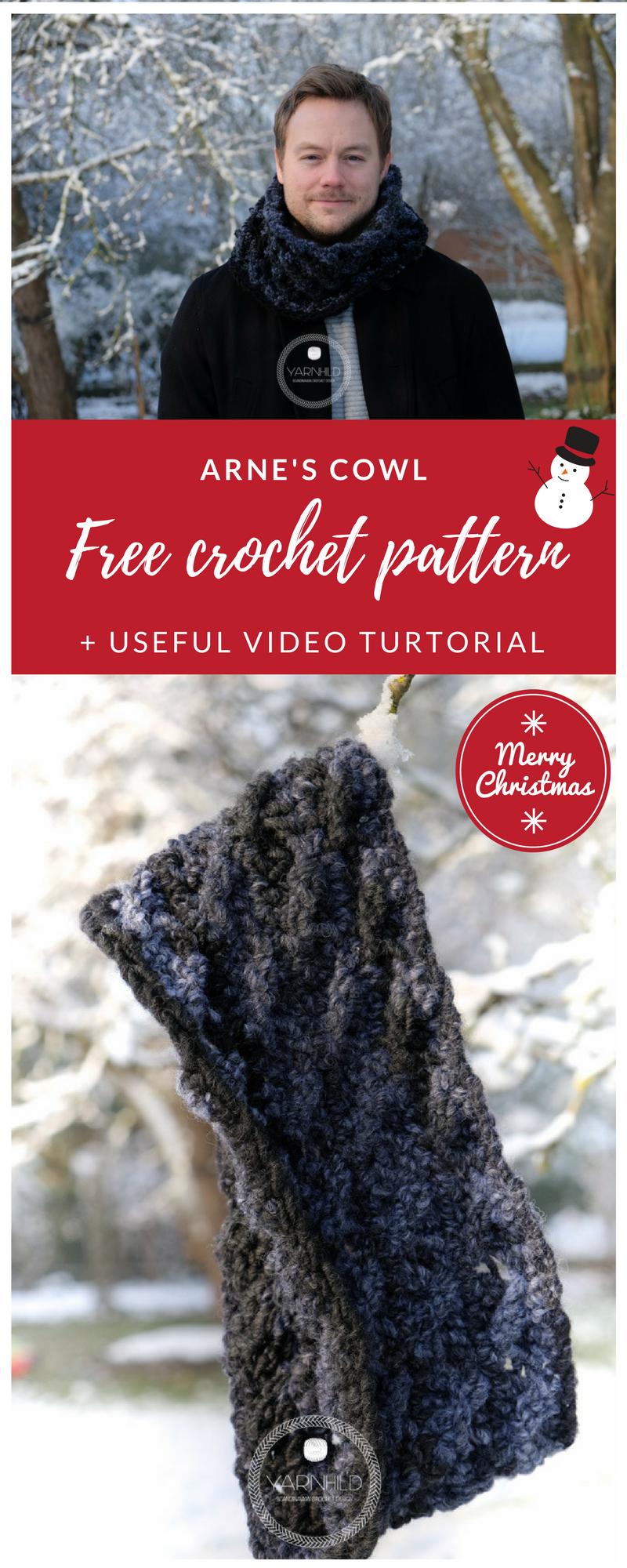 Crochet mens cowl - Free crochet pattern on Yarhnild.com | Pinterest ...
