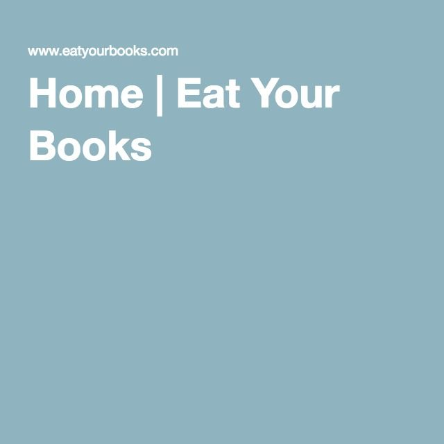 Home   Eat Your Books