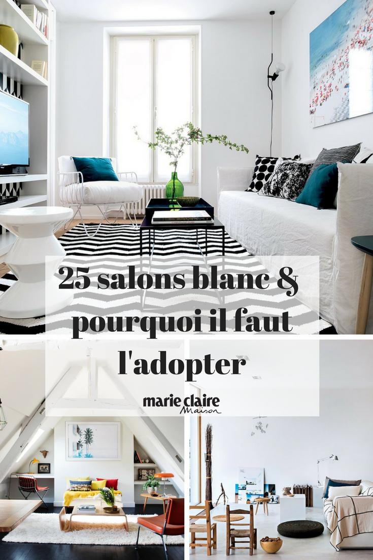 25 inspirations de salons blanc pour une decoration epuree et moderne decoration blanche deco