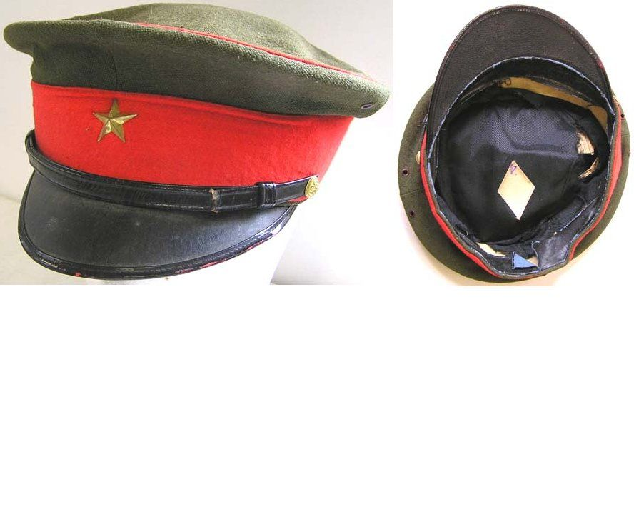 Japanese Wwii Infantry Officers Peaked Cap Military Cap Military Headgear Hats
