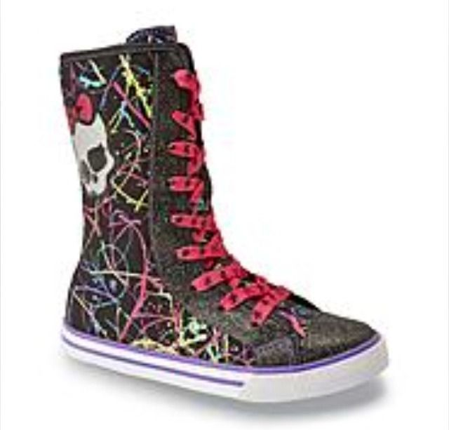 2b7fb39422 MONSTER HIGH GIRLS Sneakers Hi-Top SHOES NEW multiple sizes available