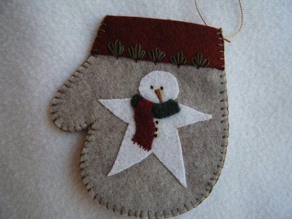 Felt Christmas Mitten Ornament/Gift Card by KraftyGrannysHome, $5.50