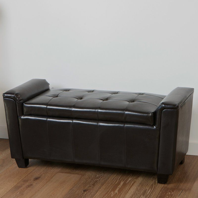 Pleasant Bosworth Tufted Leather Storage Ottoman Espresso 238134 Cjindustries Chair Design For Home Cjindustriesco