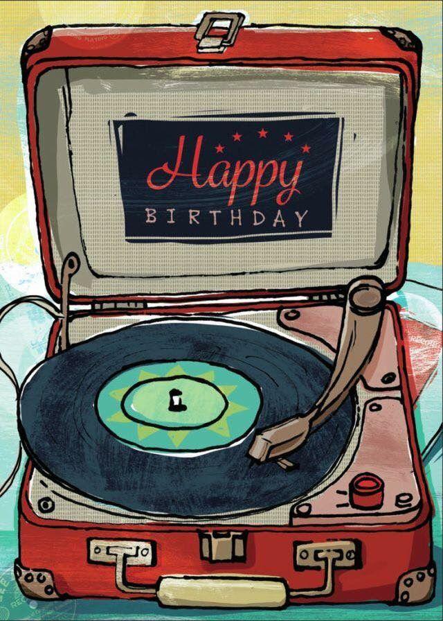 happy birthday vinyl record happy birthday pinterest. Black Bedroom Furniture Sets. Home Design Ideas