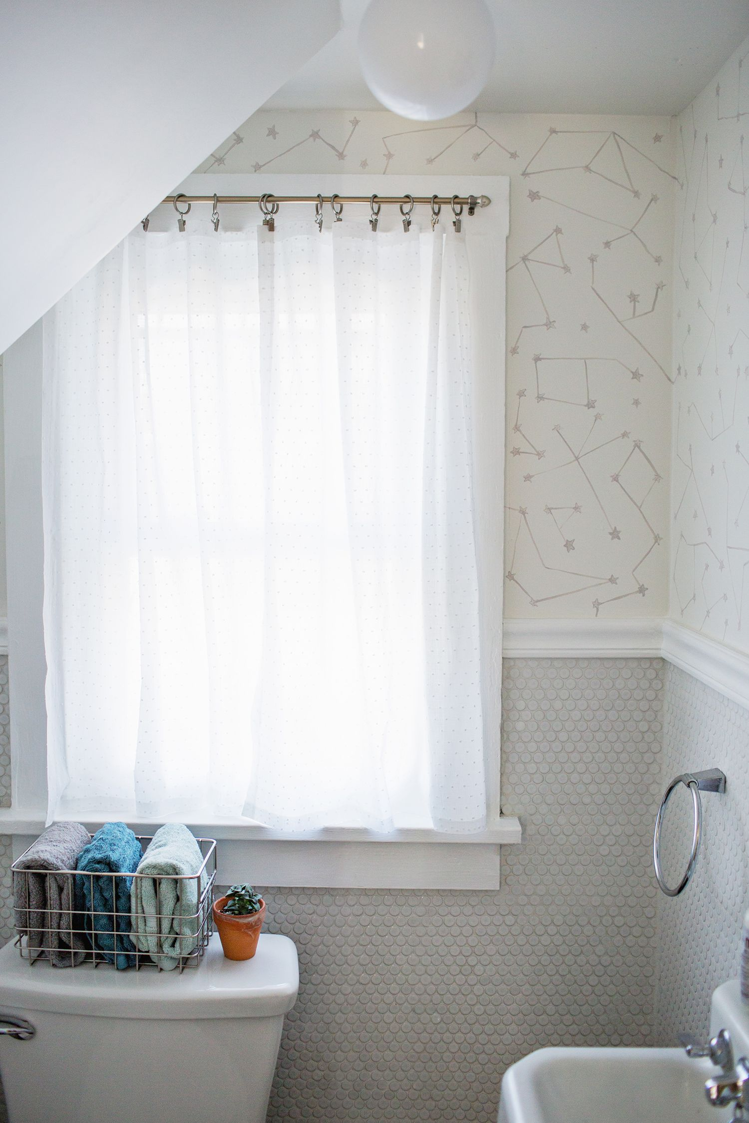 Easy No Sew Curtains Odds And Ends Bathroom Window