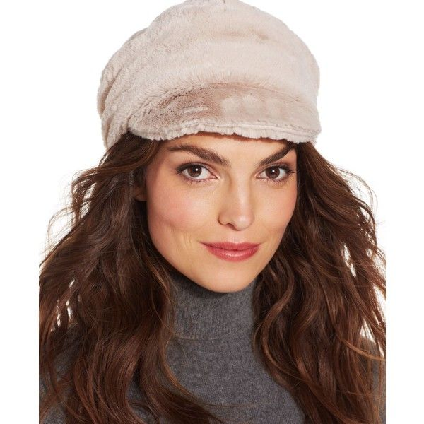 1b2d3524e285 Nine West Faux Fur Newsboy Hat ($15) ❤ liked on Polyvore featuring  accessories, hats, leopard, baker boy, faux fur hat, leopard hat, news boy  cap and nine ...