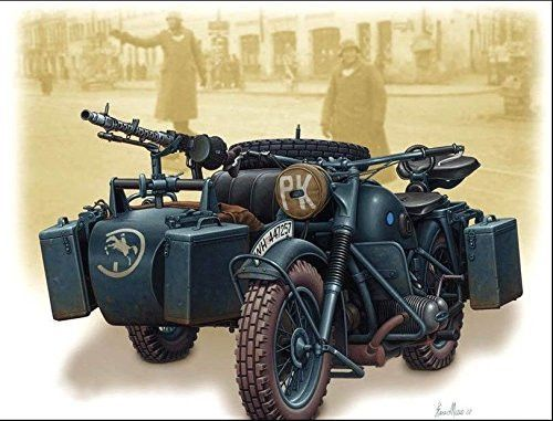 GERMAN MOTORCYCLE WWII BMW R75 1/35 MASTER BOX 3528
