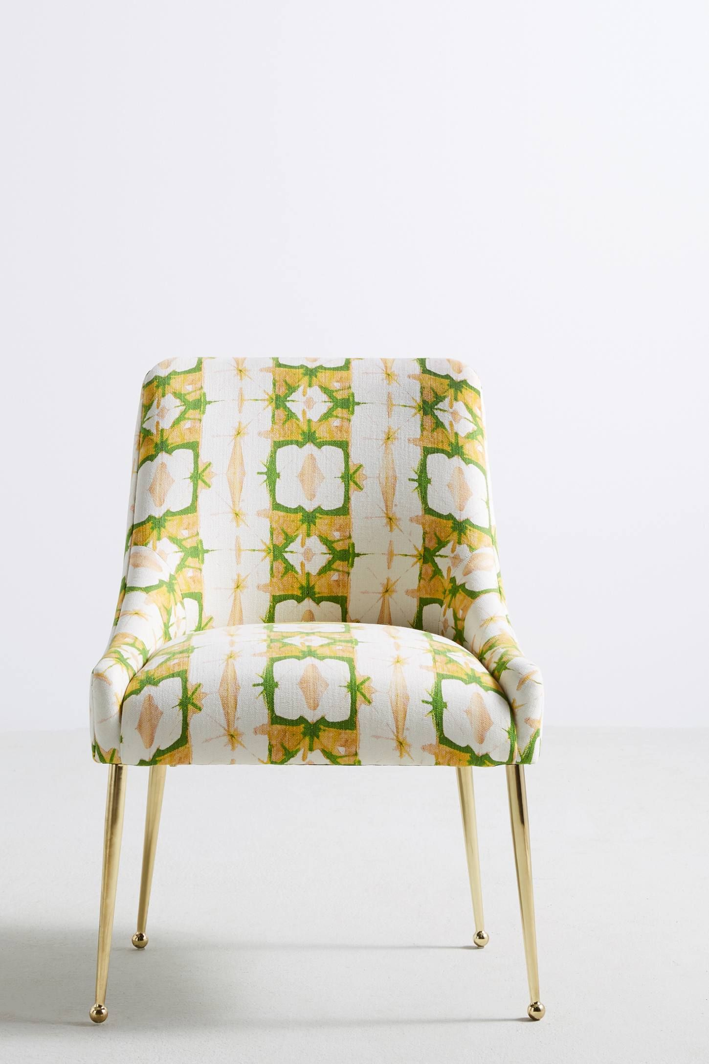 Minaraprinted elowen chair yellow dining chairs dining