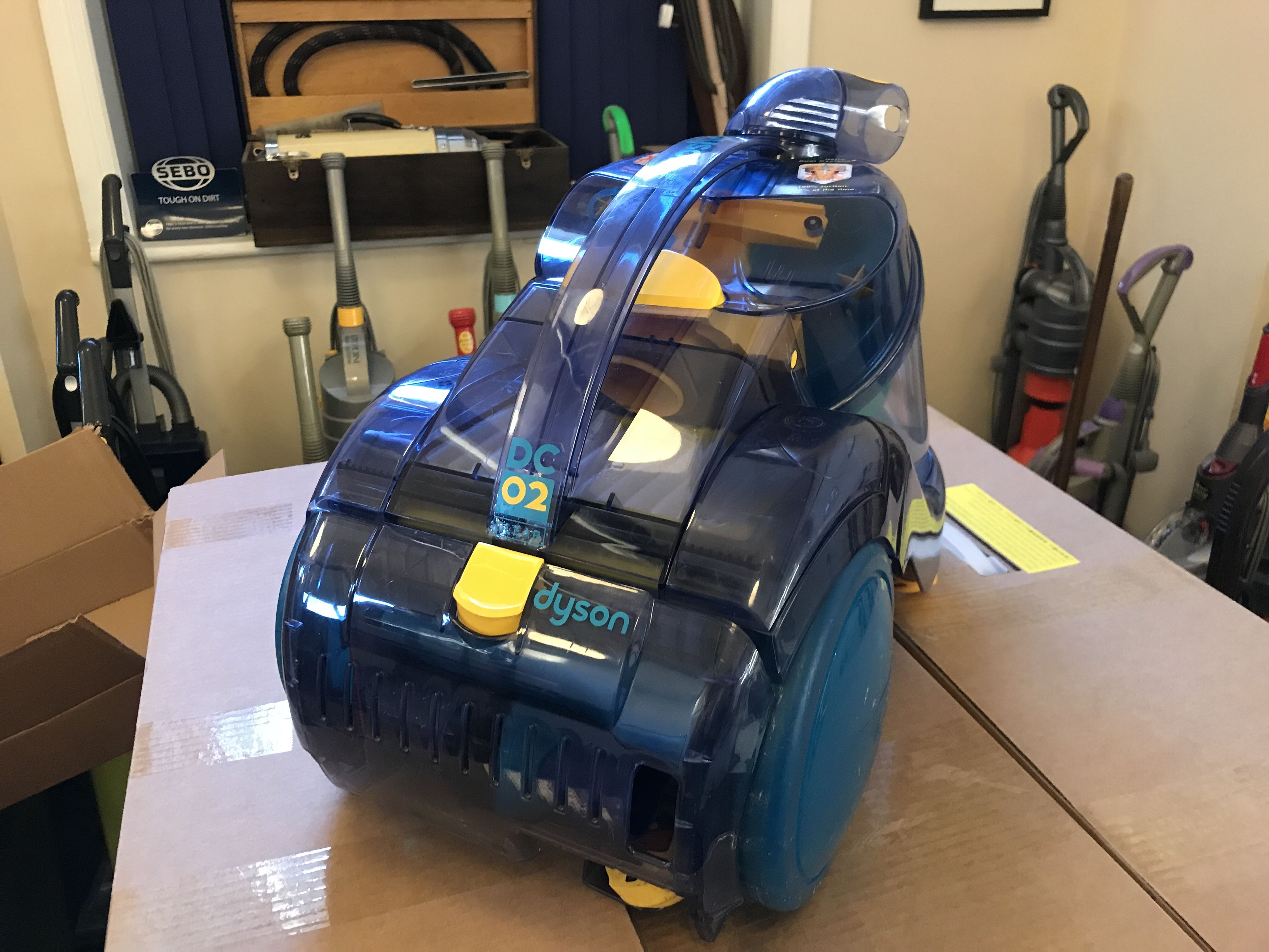 A Rather Rare Dyson Dc02 Clear We Have Just Got Finished That Will Be Languishing In The Museum Dyson Toy Car Home Appliances