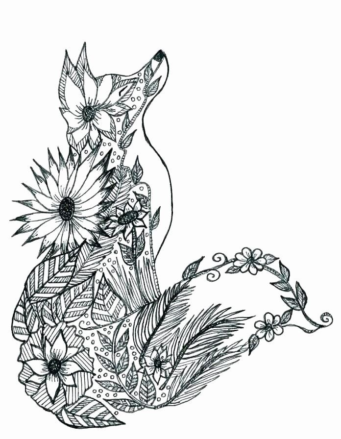 Hard Animal Coloring Pages Best Of Hard Animal Coloring Pages Dream Advanced Save Color As In 2020 Fox Coloring Page Animal Coloring Pages Mandala Coloring Pages