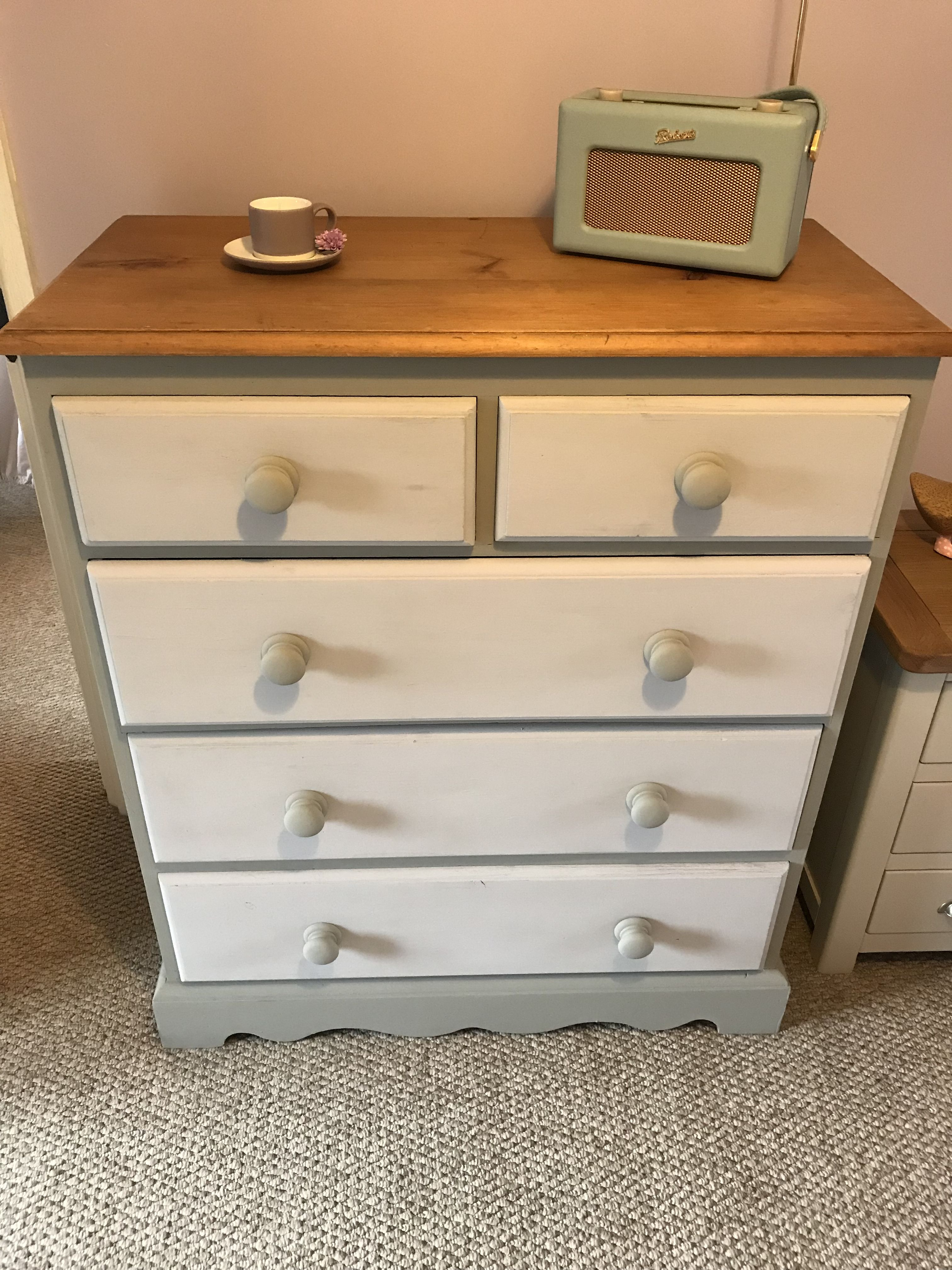 Upcycled Chest Of Drawers Annie Sloan Chalk Paint Chest Of Drawers Makeover Chest Of Drawers Upcycle Chest Of Drawers