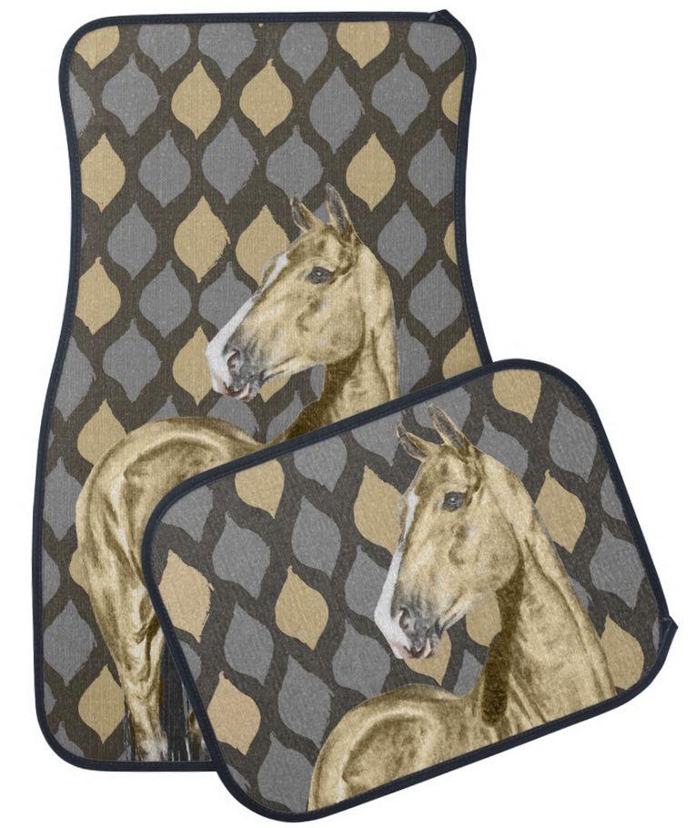 Buckskin Akhal Teke Horse Equestrian Car Floor Mats Free Shipping In The Us Creatief