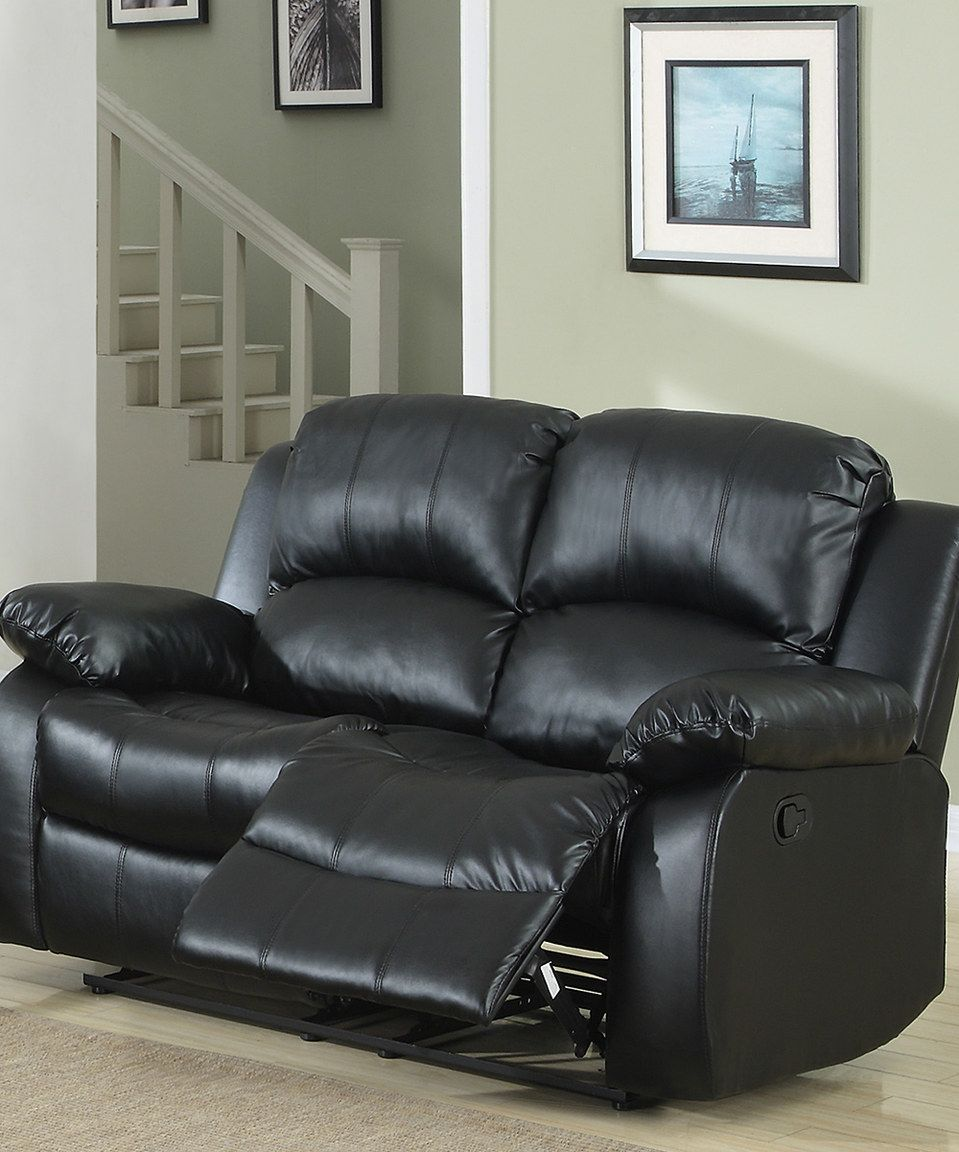 Love This Homebelle Garfield Reclining Love Seat By Homebelle On Zulily Zulilyfinds Leather Reclining Loveseat Love Seat Black Leather Sofas