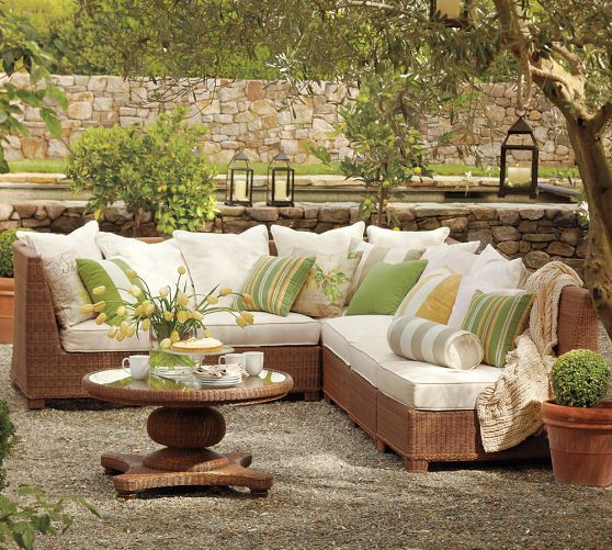 Build Your Own Palmetto All Weather Wicker Sectional Components