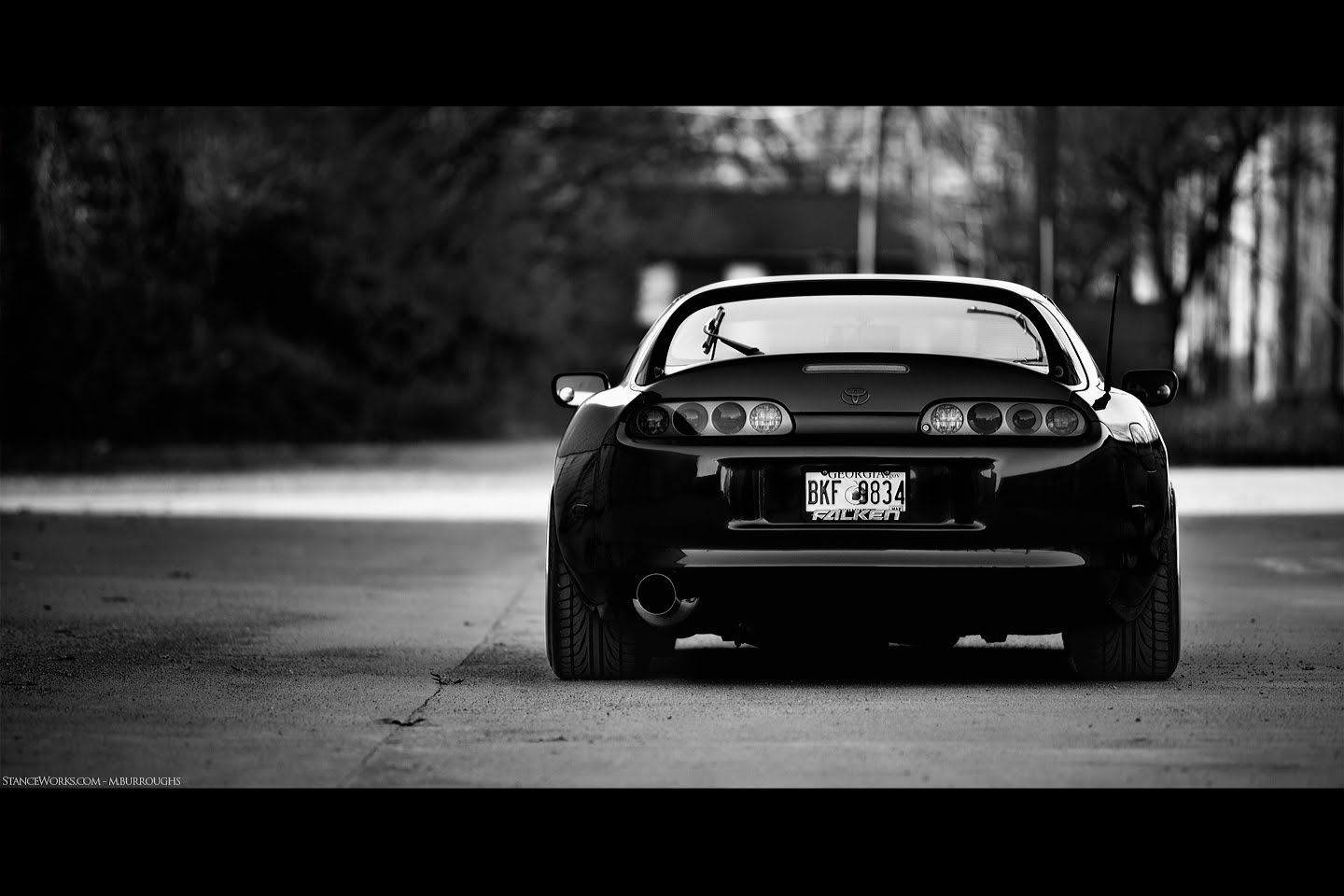 toyota supra mkiv rear black white toyota sport cars pinterest toyota supra toyota. Black Bedroom Furniture Sets. Home Design Ideas