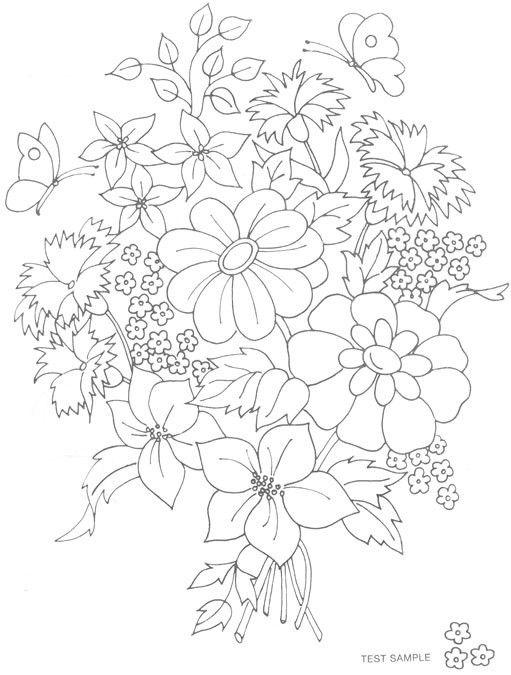 Flower Bouquet :)   Paint ideas   Pinterest   Bordado, Bordados ...
