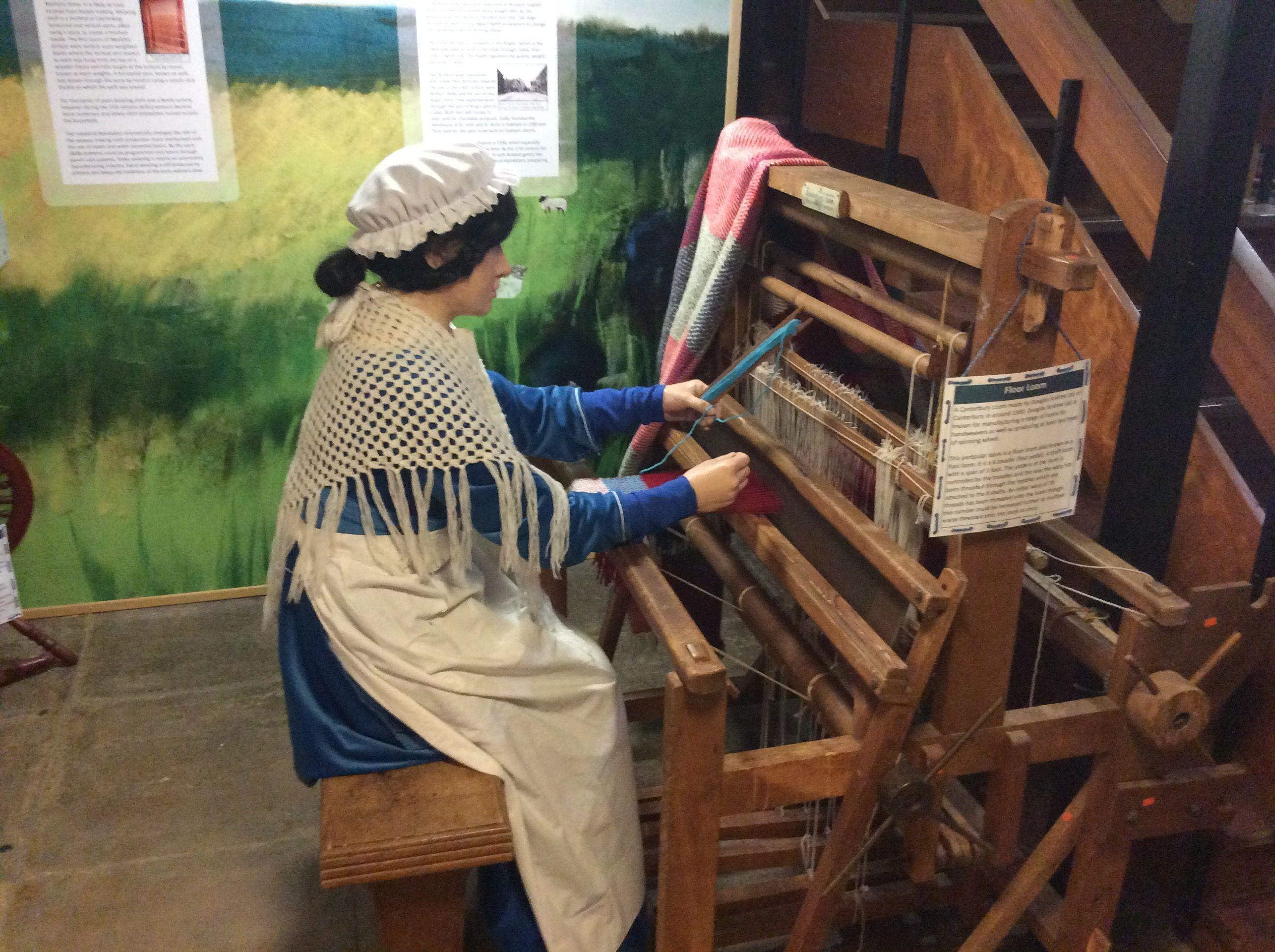 The Floor Loom exhibit at Rutland County Museum.
