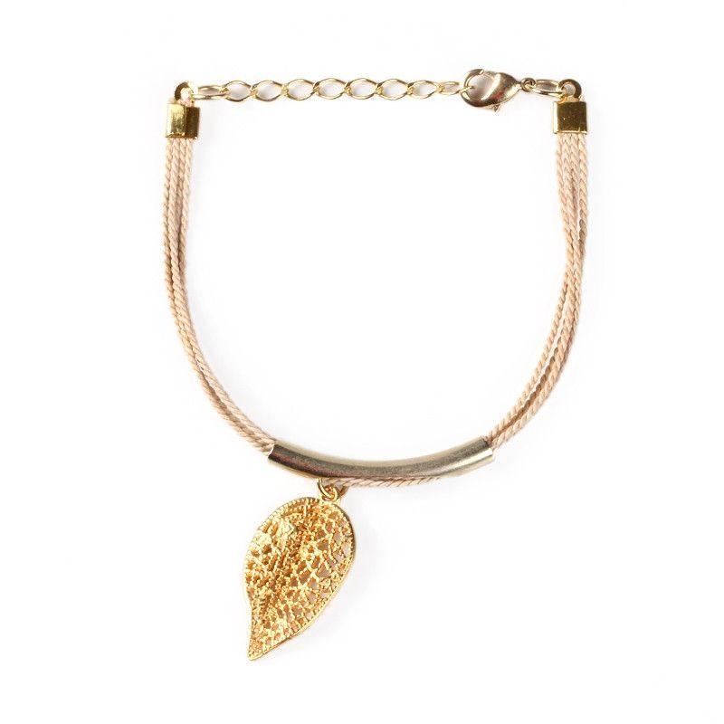magnolia leaf bracelet