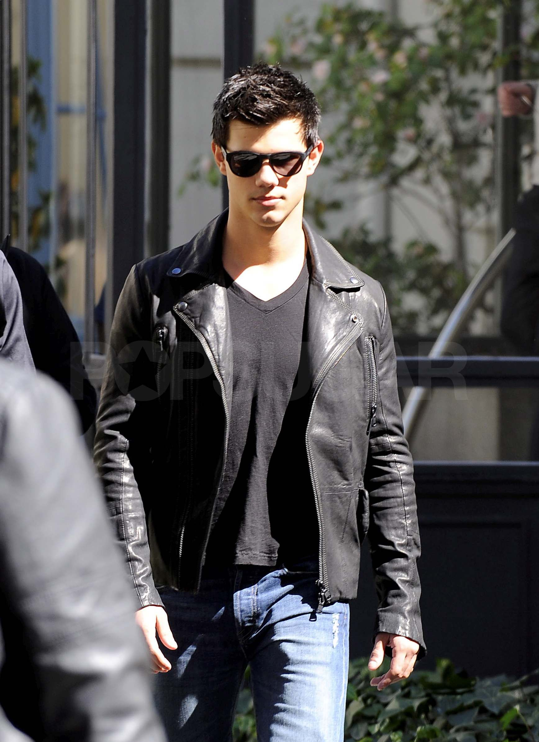 Leather jacket aesthetic - Taylor Lautner