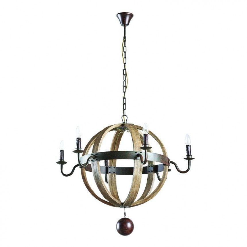 Sphere Wooden 6 Light Chandelier Lighting Dialma Brown Product Chandelier Lighting Chandelier Light
