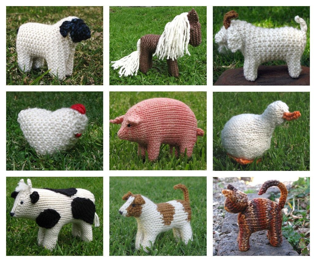 Today\'s Special Buy Any 5 Mamma4earth Animal Knitting Patterns for ...